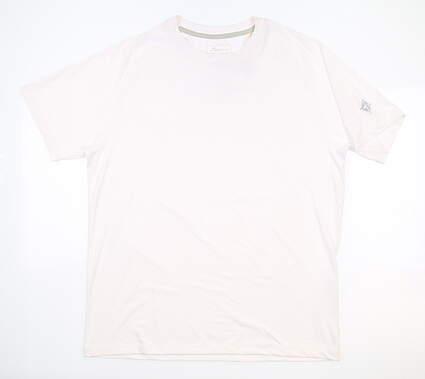 New W/ Logo Mens Peter Millar T-Shirt Medium M White MSRP $60 ME0EK95