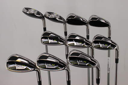 Tour Edge Hot Launch 4 Combo Iron Set 4H 5H 6H 7H 8-PW GW SW LW FST KBS Tour 90 Steel Stiff Right Handed 36.75in