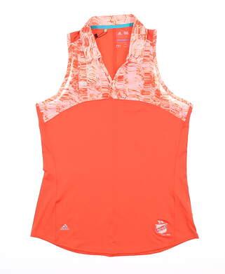 New W/ Logo Womens Adidas Sleeveless Polo Medium M Multi MSRP $65 BC3991