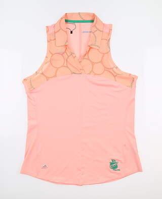 New W/ Logo Womens Adidas Sleeveless Polo Medium M Multi MSRP $65 BC1153