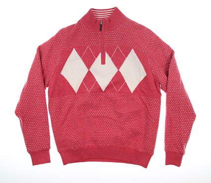 New Mens Fairway & Greene Baruffa Wind Sweater Medium M Rose MSRP $215 G11240