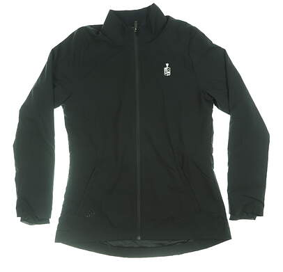 New W/ Logo Womens Adidas Sport Parka Small S Black MSRP $80 EA0200