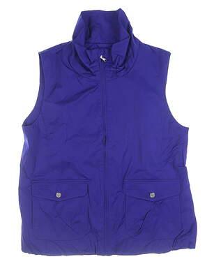 New Womens Ralph Lauren Vest Large L Purple MSRP $125