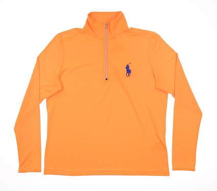 New Womens Ralph Lauren 1/2 Zip Pullover X-Large XL Orange MSRP $115