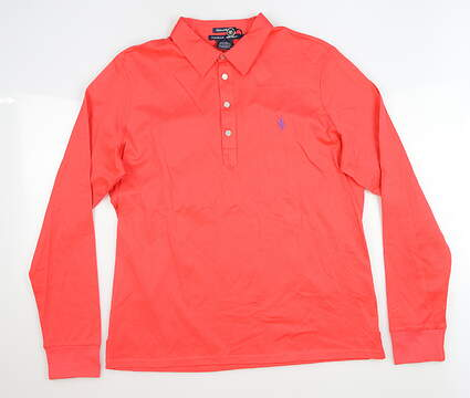 New Womens Ralph Lauren Long Sleeve Polo X-Large XL Red MSRP $75