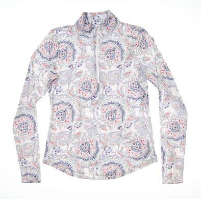 New Womens Jo Fit 1/2 Zip Pullover Small S Multi MSRP $89 UT105