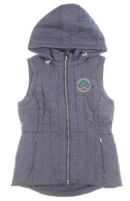 New W/ Logo Womens Zero Restriction Lizzie Down Vest Small Storm MSRP $210 L1045L