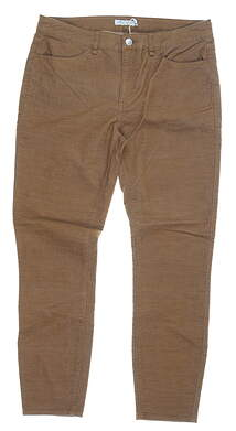 New Womens Peter Millar Pants 8 Brown MSRP $130 LF19B49