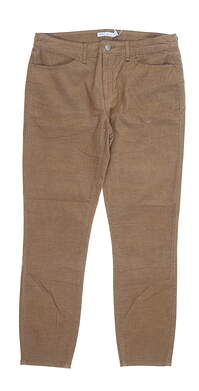 New Womens Peter Millar Pants 10 Brown MSRP $130 LF19B49