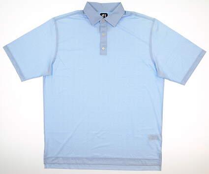 New Mens Footjoy Golf Polo Large L Blue MSRP $65