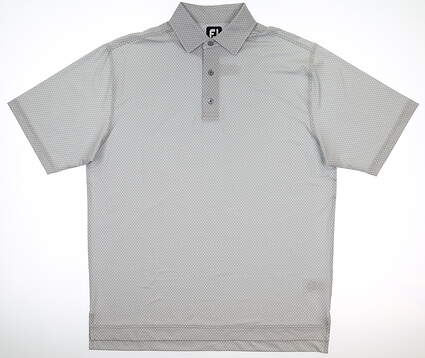 New Mens Footjoy Golf Polo Large L Gray MSRP $65