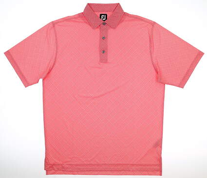 New Mens Footjoy Golf Polo Large L Red MSRP $65