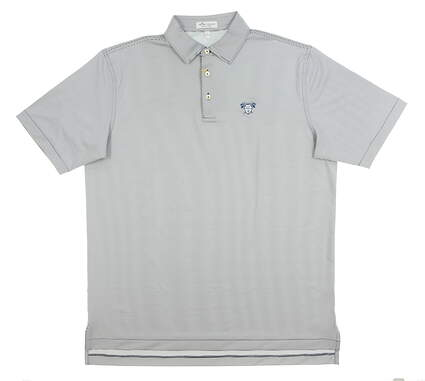 New W/ Logo Mens Peter Millar Polo Large L White MSRP $90 ME0EK11S