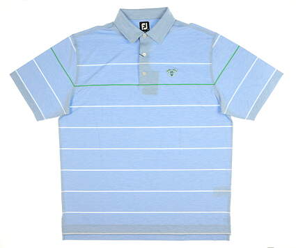 New W/ Logo Mens Footjoy Polo X-Large XL Blue MSRP $80 62028