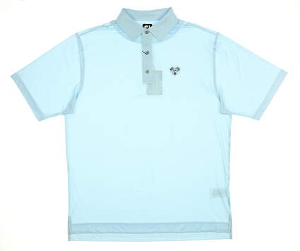 New W/ Logo Mens Footjoy Polo Large L Blue MSRP $84 26068