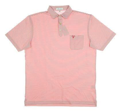 New W/ Logo Mens Peter Millar Polo Medium M Pink MSRP $90 MF19EK79S