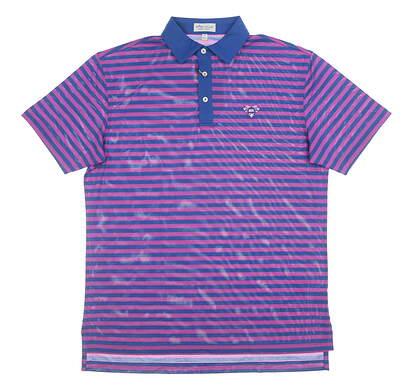 New W/ Logo Mens Peter Millar Polo X-Large XL Purple MSRP $92 MS19EK62S