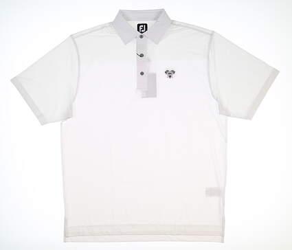 New W/ Logo Mens Footjoy Polo Large L White MSRP $80