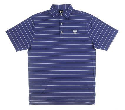 New W/ Logo Mens Footjoy Polo Medium M Blue MSRP $80 25736