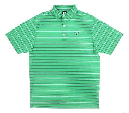 New W/ Logo Mens Footjoy Polo Medium M Green MSRP $80 26010