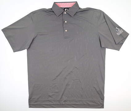New W/ Logo Mens Footjoy Super Stretch Golf Polo Large L Gray 25759