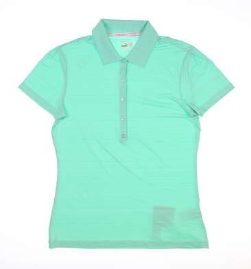 New Womens Puma Polo Medium M Green MSRP $60 567545 08