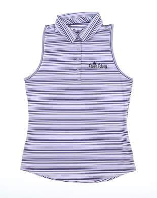 New W/ Logo Womens Under Armour Sleeveless Polo Small S Purple MSRP $70 UM0471
