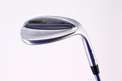 Ping Glide 2.0 Wedge Lob LW 58° 10 Deg Bounce Dynamic Gold Tour Issue X100 Steel X-Stiff Right Handed Blue Dot 35.25in