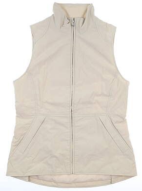 New Womens Peter Millar Vest Medium M Champagne MSRP $249 LS19Z01