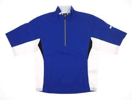 New Mens Footjoy Short Sleeve Golf Rain Jacket Small S Blue MSRP $155 23739