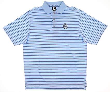 New W/ Logo Mens Footjoy Heather Lisle Polo Large L Blue MSRP $80 21206