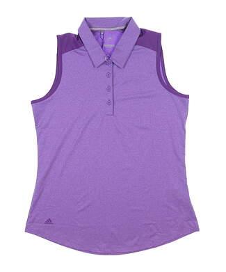 New Womens Adidas Sleeveless Polo Medium M Purple MSRP $55 DP5800