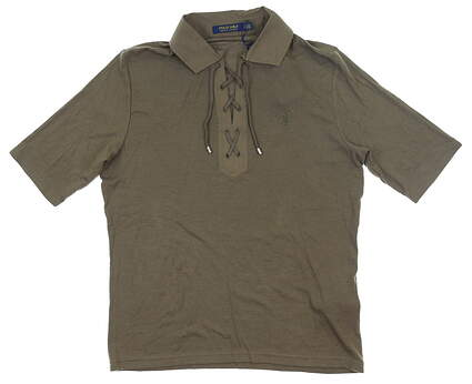 New Womens Ralph Lauren Laced Top Large L Olive MSRP $125