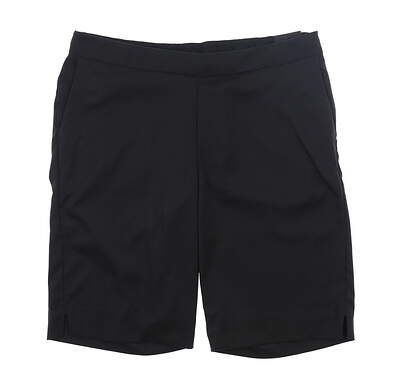 "New Womens Nike 11"" Dri-FIT UV Shorts Medium M Black MSRP $75 AJ5663-010"