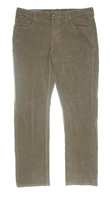 New Mens Vineyard Vines Classic Fit 5-Pocket Pants 34 x30 Brown MSRP $98