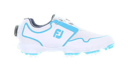 New Womens Golf Shoe Footjoy FJ Sport SL BOA Medium 6 White/Blue MSRP $170 96207