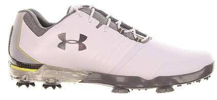 New Mens Golf Shoe Under Armour UA Match Play 8.5 White/Grey MSRP $170 301983101