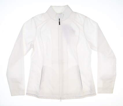 New Mens Cutter & Buck Golf Jacket Large L White MSRP $79 LCO01211