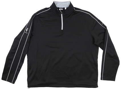 New W/ Logo Mens Puma 1/4 Zip Pullover XX-Large XXL Black MSRP $89 570237
