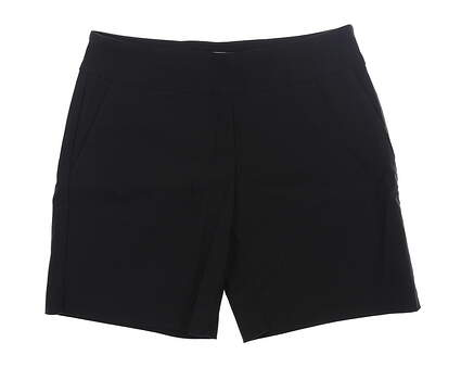 New Womens Footjoy Stretch Twill Golf Shorts Medium M Black MSRP $85 24099