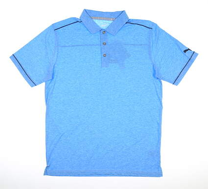 New Mens Puma Rancho Golf Polo Medium M Ibiza Blue MSRP $65 595783 07