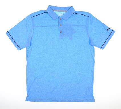 New Mens Puma Rancho Golf Polo Medium M Ibiza Blue MSRP $65 595783 07
