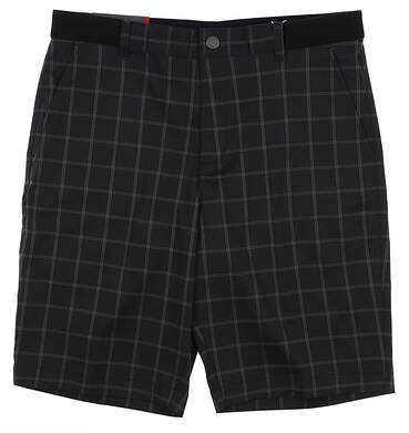 New Mens Puma Plaid Golf Shorts 32 Black MSRP $75