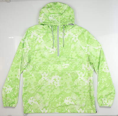 New Mens Puma Tournament Rain Jacket Medium M Greenery MSRP $180 596390 02