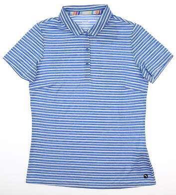 New Womens Puma Drive Polo Small S Blue MSRP $55 595820