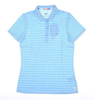 New Womens Puma Drive Polo Small S Ethereal Blue MSRP $55 595820 03