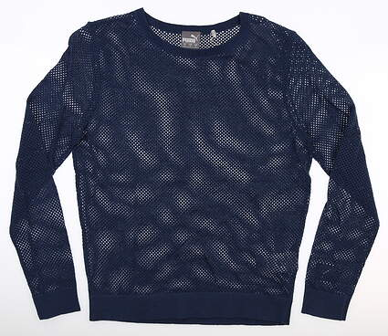 New Womens Puma Sweater Small S Navy Blue MSRP $80 595847