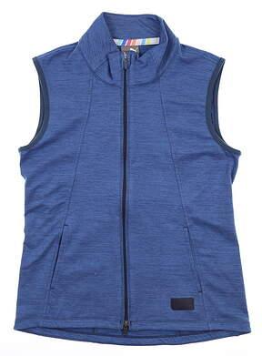 New Womens Puma Warm Up Vest Small S Blue MSRP $70 595852
