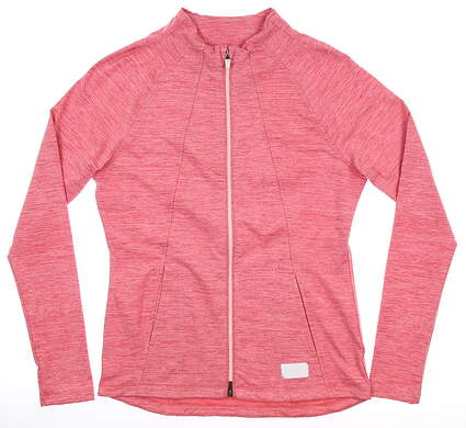 New Womens Puma Warm Up Jacket Small S Rapture Rose MSRP $98 595850