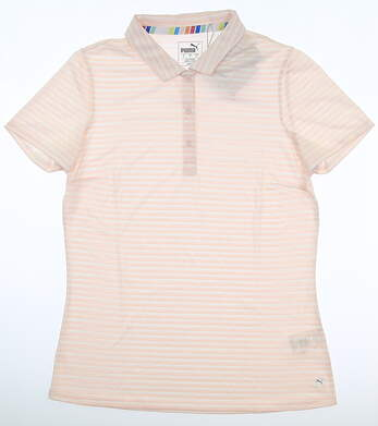 New Womens Puma Drive Polo Small S Pink MSRP $55 595820